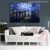 Starry Night Over Rhone Painting Print for Wall Decor