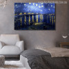 Starry Night Over Rhone Painting Print for Living Wall Decor