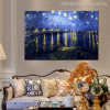 Starry Night Over Rhone Painting Canvas Print