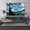 Starry Night Painting Canvas Print for Room Wall Decor
