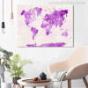 Map Design Painting Canvas Print