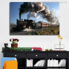 Vapor Locomotive for Picture Canvas Print