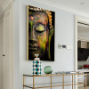 Lord Buddha Painting Print for Living Room Wall Decor