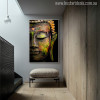 Lord Buddha Painting Print for Home Wall Decor