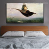Flying Carpets Reproduction Framed Painting Photo Canvas Print for Room Wall Outfit
