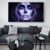 Skull Women Cross Painting Print for Living Room Wall Decor