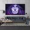 Women Skull Painting Print for Wall Decor