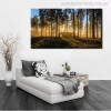 Sunrise Forest Painting Print for Room Decor
