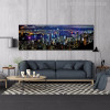 Hong Kong City Night Scene Painting Canvas Print