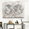 The World Painting Canvas Print for Wall Decoration Artwork