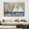 Seascape Sailboat Painting Print