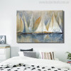 Seascape Sailboat Painting Canvas Print
