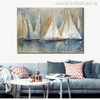 Seascape Sailboat Painting Canvas Print for Living Room Wall Decor