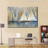 Seascape Sailboat Painting Canvas Print for Wall Decor