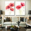 Red Poppy Flowers Painting Print
