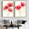 Red Poppy Flowers Painting Canvas Print