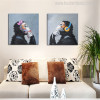 Thinking Monkey Painting Print for Room Decor