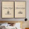 Appreciate Subhan Allah Religious Framed Artwork Photograph Canvas Print for Room Wall Drape