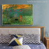 Sunrise Painting Canvas Print for Bedroom Wall Art