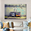 Life is Short Chill The Duck Graffiti Painting Canvas Print