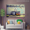 Life is Short Chill The Duck Graffiti Painting Canvas Print for Wall Decor