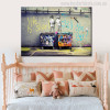 Life is Short Chill The Duck Graffiti Painting Canvas Print for Living Room Wall Decor