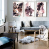 Girls Dance Watercolor Painting Canvas Print