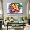 Irises Flower Painting Print