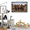 The African Grassland Landscape With Elephant Family Painting Canvas Print for Room Wall Decor