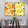 Orange Lemon Food Framed Effigy Photograph Canvas Print for Room Wall Finery