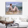 William Adolphe Bouguereau Painting The Wave (1896) Painting Canvas Print Wall Decor