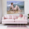William Adolphe Bouguereau Painting The Wave (1896) Painting Canvas Print Living Room Wall Decor
