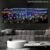 City Hong Kong Skyline Modern Wall Art Print