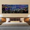 City Hong Kong Skyline Modern Wall Art Print for Bedroom Decor