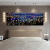 City Hong Kong Skyline Modern Wall Art Print for Bedroom Wall Art Decor