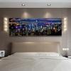 City Hong Kong Skyline Modern Wall Art Print for Bedroom Wall Art Decor