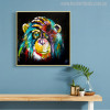 Baboon Watercolor Painting Canvas Print for Wall Decor