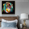 Baboon Watercolor Painting Canvas Print