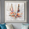 Abstract City Streets Colorful Modern Painting Canvas Print for Living Room Decor