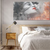 Lovers Kiss Graffiti Painting Print for Bedroom Decor