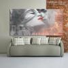 Lovers Kiss Graffiti Painting Print for Lounge Decor