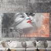 Lovers Kiss Graffiti Painting Print for Wall Decor