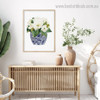 Magnolia Floral Modern Framed Painting Picture Canvas Print for Room Wall Getup