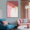 Maroon Abstract Contemporary Framed Artwork Picture Canvas Print for Room Wall Assortment