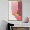 Pink White Abstract Contemporary Framed Artwork Photo Canvas Print for Room Wall Assortment