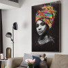 Afro Women Modern Portrait Picture Canvas Print for Living Room Decor