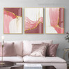 Glossy Stripes Abstract Contemporary Framed Painting Image Canvas Print for Room Wall Disposition
