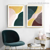 Green and Yellow Abstract Contemporary Framed Painting Pic Canvas Print for Room Wall Flourish
