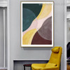 Brown Yellow Abstract Contemporary Framed Painting Portrait Canvas Print for Room Wall Decor