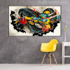 Dragon Graffiti Painting Canvas Print for Wall Decor